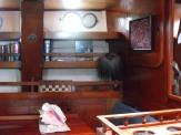 AMPLE storage space: shelving, lockers, cupboards, under-settee, under-floor. 4 settees