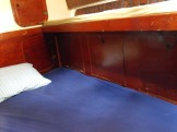 Forecabin sleeps maximum of 5 - two in V-berth and 3 side settees.