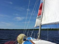 Making way under sail